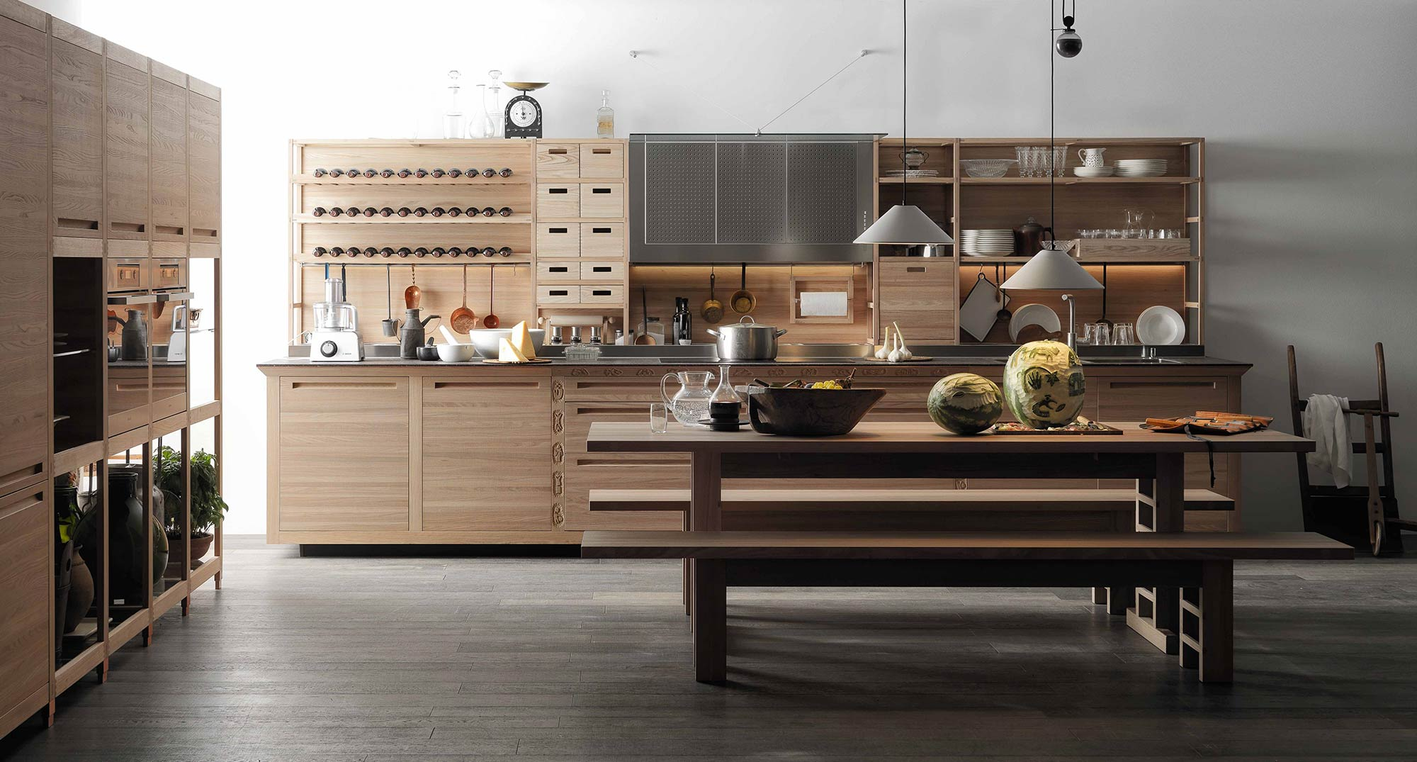 Valcucine Sine Tempore | German Standard Wooden Parquet and ...